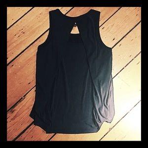 Splendid cross back cotton tank blouse navy size S